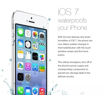 водонепроницаемый iOS 7
